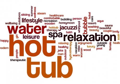 Hot tub word cloud